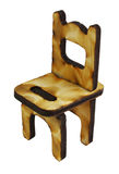 Miniature wooden chair Royalty Free Stock Image