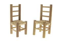 Miniature Wooden Chairs Stock Photography