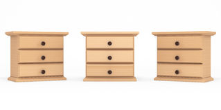 Miniature Wooden Commodes Stock Image