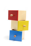 Miniature Wooden Drawers Stock Photos