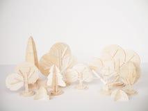 Miniature wooden model cutting artwork craft handmade minimal Stock Photo