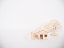 Miniature wooden model cutting artwork craft handmade minimal Royalty Free Stock Photos