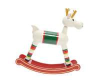 Miniature Wooden Reindeer Royalty Free Stock Photography