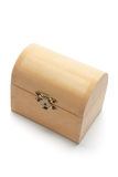 Miniature Wooden Treasure Box Royalty Free Stock Images