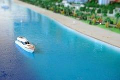 Miniature yacht Stock Photos