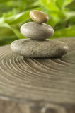 Miniature Zen Stones among Nature's Harmony Stock Image