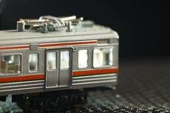 Miniatureisenbahnmodellszene lizenzfreies stockbild