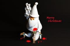 Miniaturen der frohen Weihnachten Lizenzfreies Stockfoto