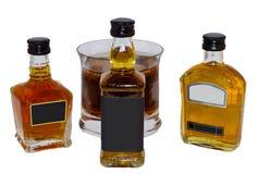 Miniatures de whiskey Photographie stock