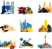 Miniatures different countries Stock Photography