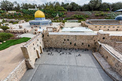 Miniatures Museum of Israel. LATRUN/ISRAEL - 18 OCTOBER 2014: Miniatures Museum of Israel royalty free stock photo