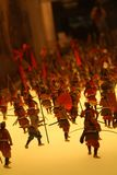 The miniatures in Osaka Castle. It depicts the war happened hund. Reds years ago. Pic was taken in August 2017 Stock Photography