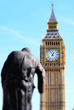 Miniaturised Shot Of Big Ben And Palace Of Westminster With Statu Stock Photos