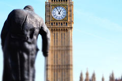 Miniaturised Shot Of Big Ben And Palace Of Westminster With Statu Royalty Free Stock Photo