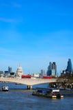 Miniaturised Shot Of London Skyline Towards City And St Pauls Cat Stock Image