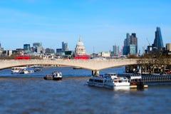 Miniaturised Shot Of London Skyline Towards City And St Pauls Cat Stock Photography