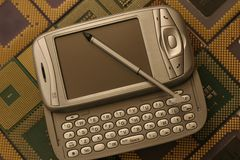 Miniaturization. Oldest, old and new technology Stock Images