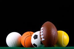 Miniaturized sport balls  Stock Photo