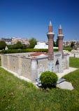 Miniaturk, Стамбул Gokmedrese (небо Madrasah) в Sivas, Турции Стоковые Изображения