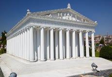 Miniaturk, Estambul Una reconstrucción del modelo de escala del templo de A Fotografía de archivo