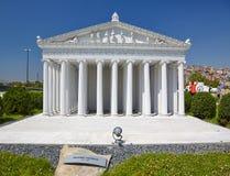 Miniaturk, Estambul Una reconstrucción del modelo de escala del templo de A Imágenes de archivo libres de regalías