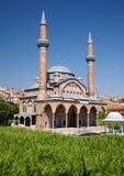 Miniaturk, Istanboel Een schaalexemplaar van de Moskee van Manisa Muradiye binnen Stock Afbeeldingen