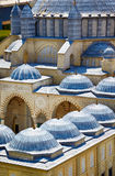 Miniaturk, Istanbul. The domes of Selimiye Mosque in Edirne, Tur Stock Photo