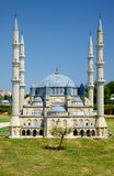 Miniaturk, Istanbul. The domes of Selimiye Mosque in Edirne, Tur Stock Images