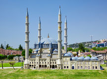 Miniaturk, Istanbul. The domes of Selimiye Mosque in Edirne, Tur Royalty Free Stock Images