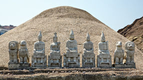 Miniaturk, Istanbul. A reconstruction of huge statues of Gods on Stock Photo