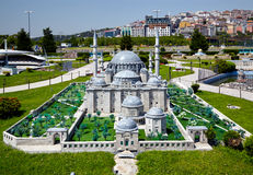 Miniaturk, Istanbul. A scale copy of Suleymaniye Mosque in Istan Royalty Free Stock Photos