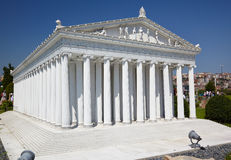 Miniaturk, Istanbul. A scale model reconstruction of Temple of A Stock Photography