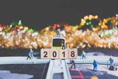Miniaturleutearbeitskraftgestaltholzklotz Nr. 2018 Lizenzfreie Stockbilder