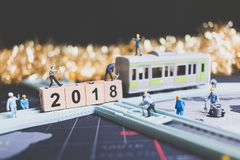 Miniaturleutearbeitskraftgestaltholzklotz Nr. 2018 Stockbilder