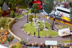 Miniaturmodell des Grod Stockbild