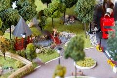 Miniaturmodell des Grod Lizenzfreies Stockfoto