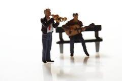 Miniaturmusiker A Lizenzfreie Stockfotografie