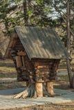 Miniaturowa buda w miasto parku Obraz Royalty Free