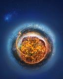 Miniaturowa Ziemska planeta z ważnymi budynkami i przyciąganiami Istanbuł Fotografia Royalty Free