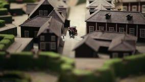 Miniaturowe końskie fracht przejażdżki zbiory