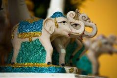 Miniaturowe słoń statuy, Bangkok Zdjęcia Stock