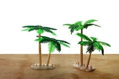 Miniaturowi drzewka palmowe Obrazy Stock