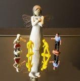 Miniaturowi ludzie Fotografia Stock