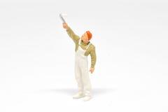 Miniaturowi ludzie malarza pojęcia na tle z przestrzenią dla Zdjęcie Royalty Free