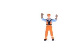 Miniaturowi ludzie w inżyniera i pracownika zajęciu Zdjęcie Royalty Free
