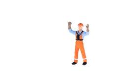 Miniaturowi ludzie w inżyniera i pracownika zajęciu Fotografia Stock