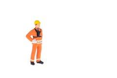 Miniaturowi ludzie w inżyniera i pracownika zajęciu Obrazy Royalty Free