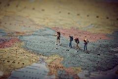 Miniaturowi turyści w Chiny Koloru brzmienie nastrajający zdjęcia royalty free