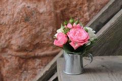 Miniaturowy bukiet róże Obraz Royalty Free