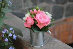 Miniaturowy bukiet róże Zdjęcie Stock